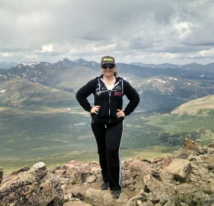 At the top of Mt. Bierstadt, July of 2014.